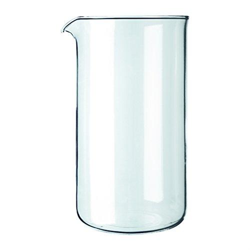 Bodum - 1508-10 - Verre de Rechange pour Cafetière à Piston 8 Tasses - 1.0 L