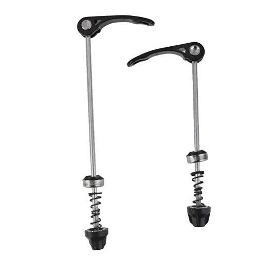 WINOMO Fahrrad Schnellspanner für Rad Nabe vorne und hinten Spieße Radsport Teile 2St (schwarz) -