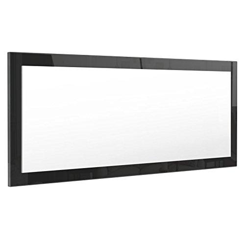 Vladon Spiegel Wandspiegel Lima 139cm in Schwarz Hochglanz