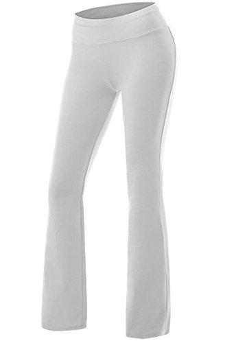 CROSS1946 Damen Yoga Lange Stretch Lagenlook Hose Weiss Medium