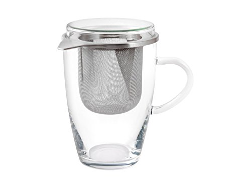 Bohemia Cristal Set Tea for ONE Teeglas, Glas, Transparent 11x8.5x13.5 cm
