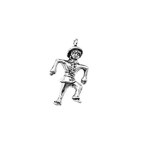 Anhänger Feiertage und besondere Anlässe Halloween Tanzen Vogelscheuche Charm aus 925 Sterling Silber ()