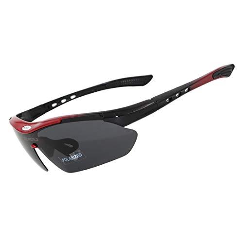 GSAYDNEE Outdoor-Sportbrillen mit polarisierten Reitern, die Winddichte Fahrrad-Mountainbike-Sonnenbrillen für Männer und Frauen fischen (Color : A)