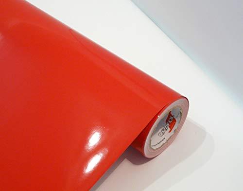 Neuheit bei tjapalo® Möbelfolie selbstklebend hochglanz Küchenfolie Bastelfolie Türfolie Klebefolie zum basteln folie zum bekleben von möbel mit Anleitung, Farbe: Rot, Größe: L200xB63cm