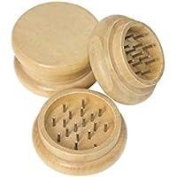 BCCEUROSHOP® Grinder Grinder Dents en Métal Bois Naturel pour Tabac Herb Broyeur en Bois Herb avec des Dents À Ongles…