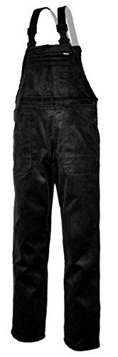 EIKO Arbeits-Latzhose Genua Cord - schwarz - Größe: 50