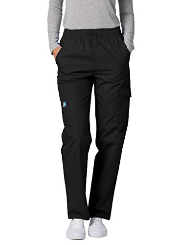 Adar Universal Natural-Rise Multipocket Cargo Tapered Leg Pants - 506 - Black - L Cargo-naturals