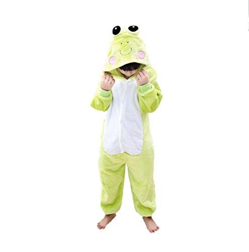 Honeystore Kind's Unisex Frosch Cartoon Jumpsuit Jumpsuit Kostüm Pyjamas Siamesische Kleidung (Cartoon Gruppe Halloween Kostüme)