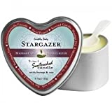 Earthly Body 3 In 1 Massage Heart Candle - Stargazer, 6.0 oz.