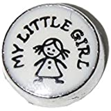 My little girl - 7mm floating charm fits Living memory and Origami Owl style lockets