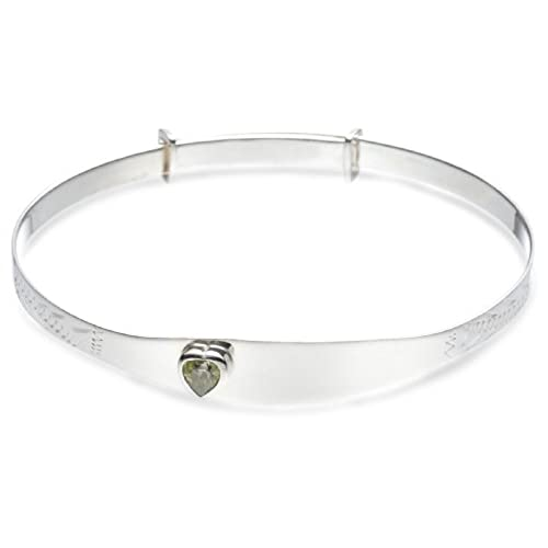 MiChic Children's Silver Childs Birthstone Expanding Identity Bangle fXICmDjS
