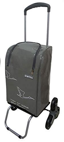 Bo Time Einkaufswagen Treppensteigräder mit Teleskopgriff - Wasserdichte Tasche mit Reißverschluss 40L - Marke