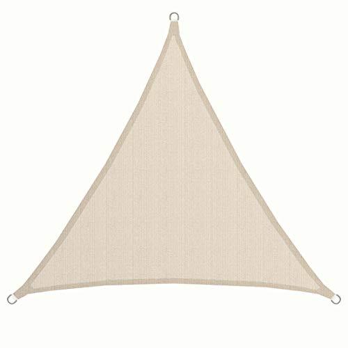 AMANKA Vela de Sombra 2x2x2m toldo Triangular de Tela de poliéster hidrófugo Cubierta contra los Rayos UV UPF50+ Beis