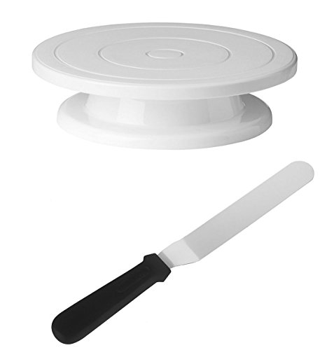 decorating-turntable-stand-cake-display-table-with-8-inch-metal-offset-icing-spatula-professional-ba