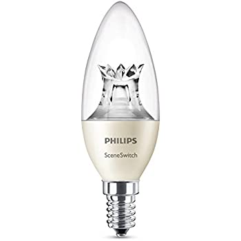 Philips Sceneswitch-Bombilla LED Vela, Casquillo E14, 40 W, no Regulable, 5 W Blanco 5 W