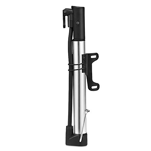 Mini Fahrradpumpe, Mini Luftpumpe Fahrrad für Presta & Schrader Ventile- Hoher Druck bis 8,3 Bar - zuverlässig, Kompakt & Leichte Rahmenpumpe mit Druckmessgerät - Minipumpen für Rennrad, Mountainbike