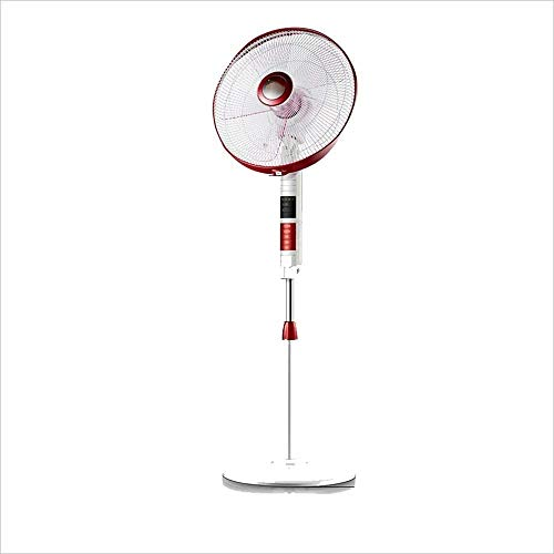 Yqdayshow Pedestal Swivel Fan Vier-Gang-Fernbedienung Timing Mute Fan-Red (Farbe : -, Größe : -)
