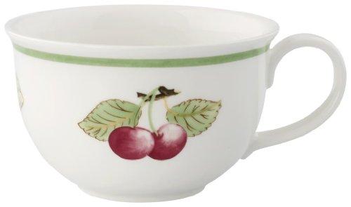 Villeroy & Boch Charm & Breakfast French Garden Café au Lait-Tasse, 500 ml, Höhe: 7 cm, Premium Porzellan, Weiß/Bunt -