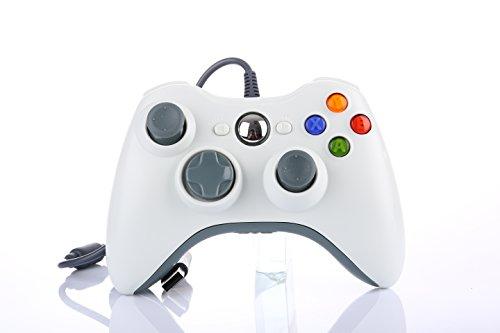 Xbox 360 Controller, JAMSWALL Kabelgebundene USB Gamepad Controller für MICROSOFT Xbox 360 PC Windows7 XP-Weiß