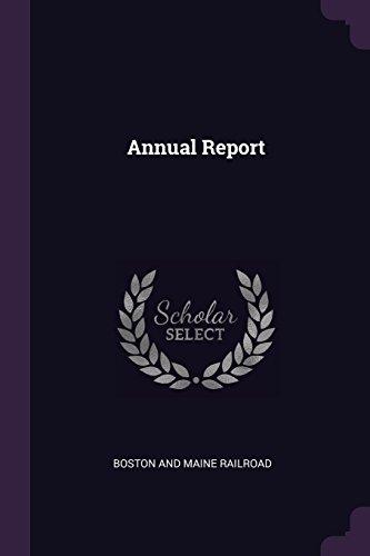 Annual Report por Boston And Maine Railroad