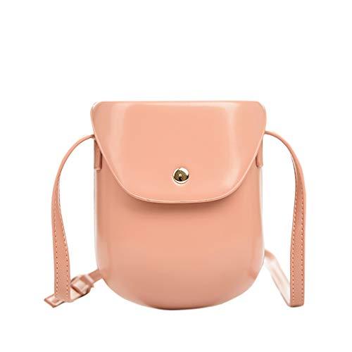 er Bag Mode Crossbody Einfach Und Vielseitig UmhäNgetaschen GeldböRse Elegante Partytasche Einfache Handytasche Sommer Tasche,17Cm(H)-14Cm(L)-5Cm(W)(Rosa) ()