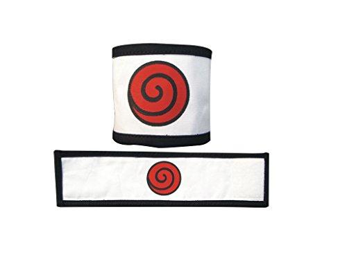 Mtxc Naruto Cosplay Accesorios Uzumaki Naruto Pulseras Blanco