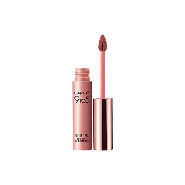 Lakme 9 to 5 Weightless Mousse Lip & Cheek Color, 9 g