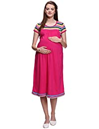 Mamma's Maternity Striped Maternity Dress