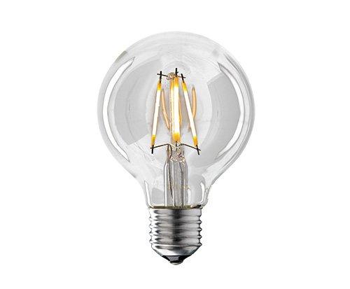 Preisvergleich Produktbild SIGOR DIMMBARE Filament LED Lampe Globe,  ø80mm,  E27,  4W ersetzt 40W,  EEK A+,  klar,  warmweiss 2700K,  380 Lumen