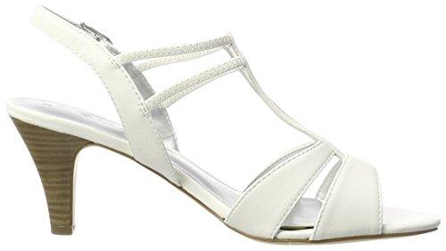 Tamaris 28304, Sandales Bout Ouvert Femme Blanc (White 100)