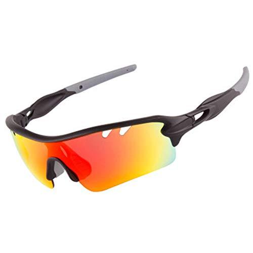 HYwot Professional Sports Ski Sonnenbrille - UV400-Schutz - Strand, Laufen, Camping, Radfahren, Skifahren - Unisex Sports Sonnenbrille 5 Wechselgläser