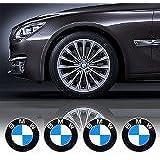 4 x 65mm Diameter Wheel Cap Sticker Self Adhesive Logo Emblem For BMW