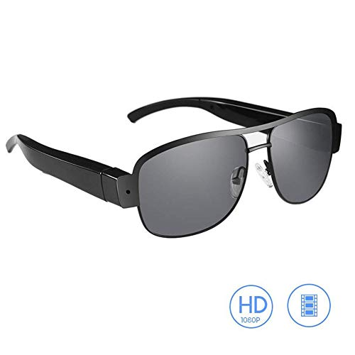 OOLIFENG Sonnenbrille Kamera, Full HD 1080P Mit Weiter Winkel Mini Videokamera Mit UV-Schutz Polarisierte Linse Zum Outdoor-Sportarten