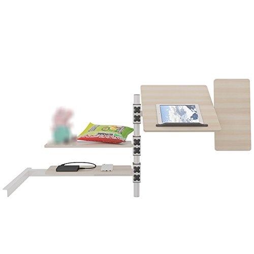 Tische ZR- Schlafsaal Zimmer Einfache Tabelle Etagenbetten Bett Multifunktions Schreibtisch \ Bücherregal Kombination Computer Schreibtisch Klapptisch Hängenden Faulen (Farbe : Maple) - Kinder-möbel-etagenbetten