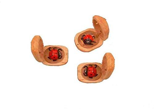 1 Glückskäfer, Marienkäfer aus Holz, Glücksbringer