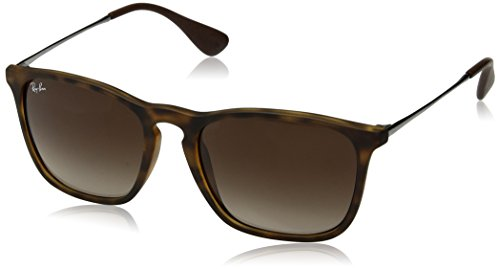 RAYBAN Unisex Sonnenbrille Rb4187 Gestell (Havana), Gläserfarbe: braun verlauf 856/13), Medium (Herstellergröße: 54)