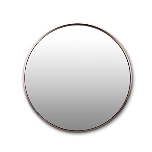 Badezimmer-Spiegel Wandbehang Spiegel Runde Aluminium Rahmen HD Explosionsgeschützte Concise Moderne mit hängenden Befestigung Durchmesser 30cm / 11.8Inch-80cm / 31.4Inch, Rose Gold -