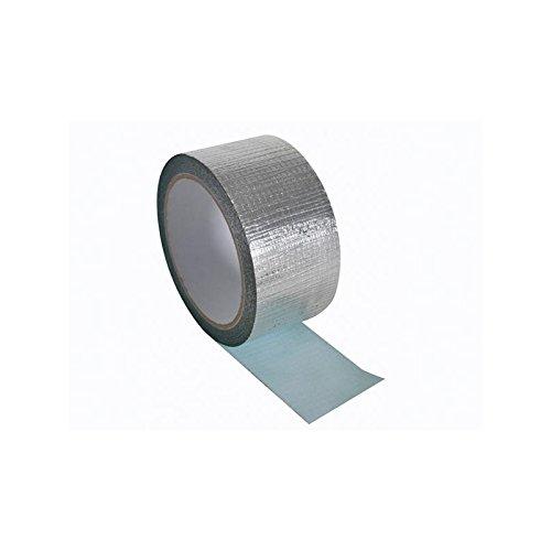 PEREL - DTALU50 Verstärktes Aluminiumklebeband, 50 mm Breite x 10 m Länge, Silber 141879