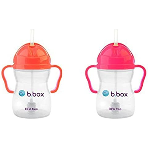 B. Box Sippy Cup (8 oz) Set - Watermelon and Pink Pomegranate by Bbox