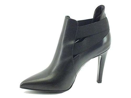 CAF NOIR schwarze Schuhe MC146 Mast Buchse Ferse elastische Spitze Schwarz