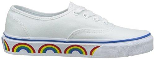 Vans Ua Authentic, Sneakers Basses Femme Blanc (Rainbow Tape)