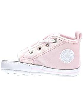 858879C CONVERSE rosa rosa blanca cuna blanco zapatos de la muchacha de todo mediados estrellas