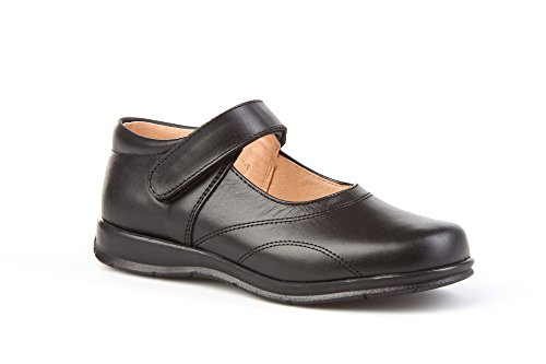 Merceditas COLEGIALES pour filles tout cuir, Mod. 461. Chaussure Enfant Made in Spain, garantie de qualité. Noir