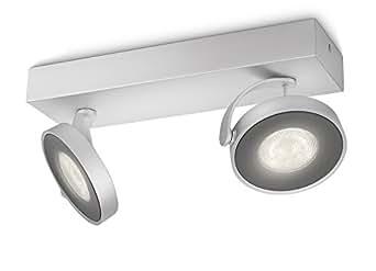 Philips myLiving spotbalken clockwork 2 ampoules lED aluminium 531724816