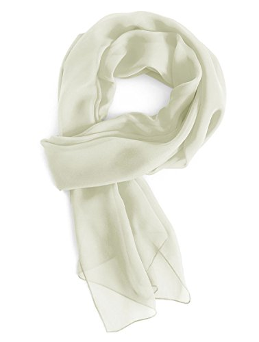Gardenwed Damen Chiffon Schal Tücher Stola Scarves für Brautkleider Abendkleider in 28 Farben Ivory L