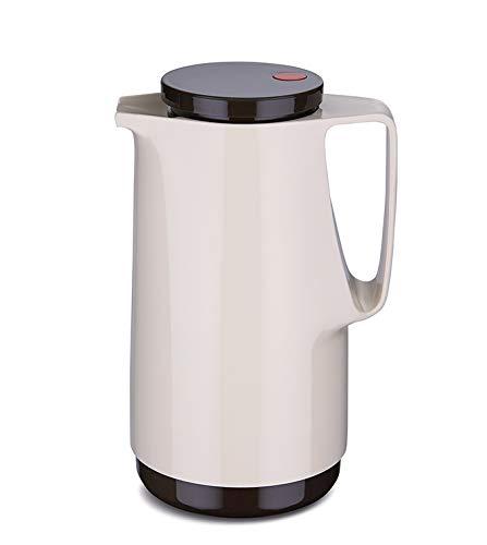 Rotpunkt Isolierkanne 760 1,0 l (Latte Macchiato) | Doppelwandige Vakuumisolierung | Zweifunktions-Drehverschluss | BPA Frei- gesundes Trinken | Made in Germany | Warm + Kalthaltung | Glaseinsatz