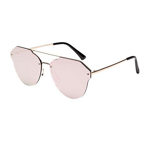 Whycat Sonnenbrille Damen Gross Runde Sonnenbrille, Mens Womens Retro Kätzchen Augen Vintage inspirierte Horn umrandeten Nerd UV400(Gold)