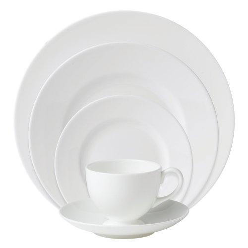 Wedgwood 0010540400 White 5-Piece Place Setting Wedgwood White Dinner Plate