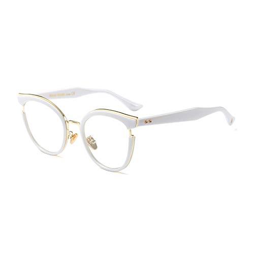 YMTP Frauen Mode Brillengestell Hohe Qualität Klare Linse Brillenfassungen Frauen Männer, Weiß
