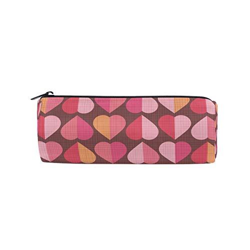 bonipe rot Herzform Muster, Bleistift Tasche Schule Stationery Pen Box Reißverschluss Kosmetik Make-up-Tasche